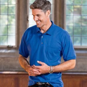 ® DryBlend® Adult Jersey Polo with Pocket Thumbnail