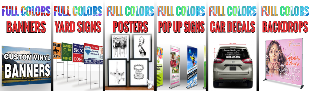 Fast custom banners stickers design 4 you screen printing embroidery